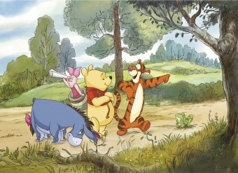 FOTOTAPET DISNEY 4-411 EXPEDITION WINNIE THE POOH 254 X 184 CM